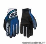 Gants Moto taille S marque Five MX Practice Plate Blue