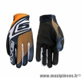 Gants Moto taille S marque Five MX Practice Plate Orange