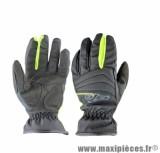 Gants Moto marque GTR All Weather Noir/Jaune Fluo taille L