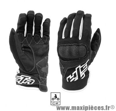Gants Moto marque GTR Impact Coques Black/White taille L