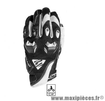 Gants Moto marque Five Stunt Evo Black/White taille L