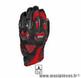 Gants Moto marque Five Stunt Evo Black/Red taille XL