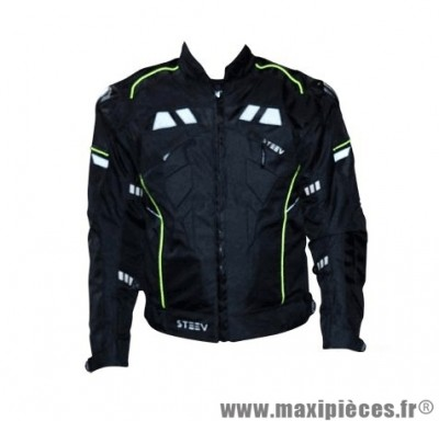 Blouson marque Steev Targa V2 Noir taille XL