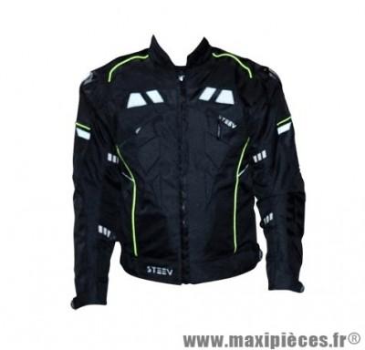 Blouson marque Steev Targa V2 Noir taille M