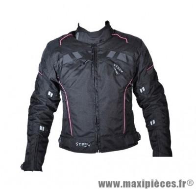 Blouson marque Steev Targa V2 Femme taille XS Noir/Rose