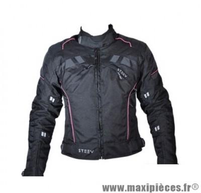 Blouson marque Steev Targa V2 Femme taille S Noir/Rose