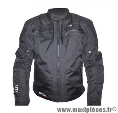 Blouson marque ADX City Homme Noir taille XL (avec protections/sans plaque dorsale)