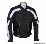 Blouson marque ADX Ringroad taille L Noir/Blanc (avec protections/sans plaque dorsale)