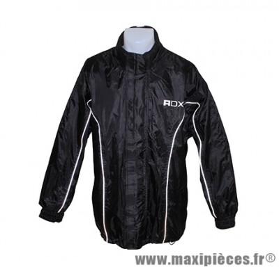 Veste de pluie marque ADX Luxe Noir taille S (Pvc + Polyester, Doublee)