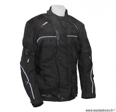 Veste 3/4 marque ADX Urban Noir taille XXL (avec protections/sans plaque dorsale)