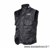 Gilet marque Hevik Zefiro Noir taille S (100% Coupe-Vent, 6 poches étanches Avants + 1 Arriere)