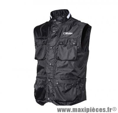 Gilet marque Hevik Zefiro Noir taille M (100% Coupe-Vent, 6 poches étanches Avants + 1 Arriere)