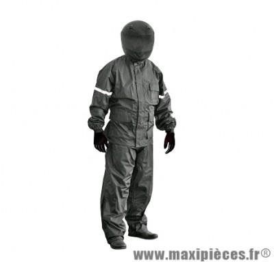 Ensemble pluie marque TNT (Veste + Pantalon) Noir Taille M