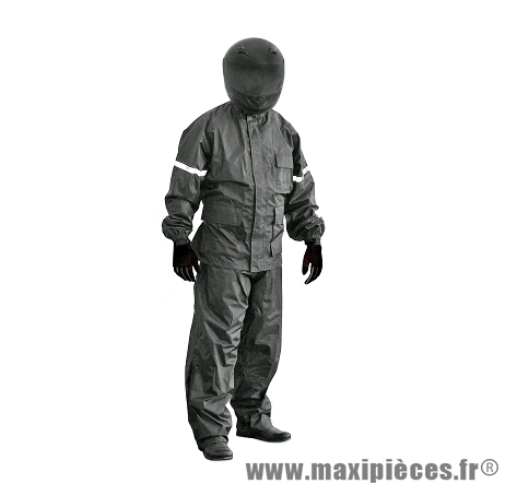 Ensemble pluie TNT (Veste + Pantalon) Noir Taille taille XL