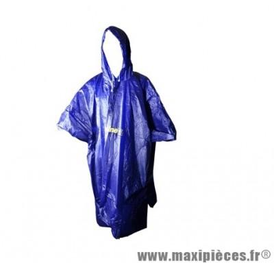 Poncho pluie PVC Bleu Putoline