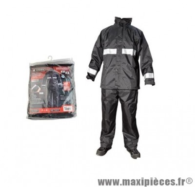 Veste + Pantalon pluie marque Steev Noir (Ensemble 2 pièces) taille M