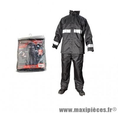 Veste + Pantalon pluie marque Steev Noir (Ensemble 2 pièces) taille L