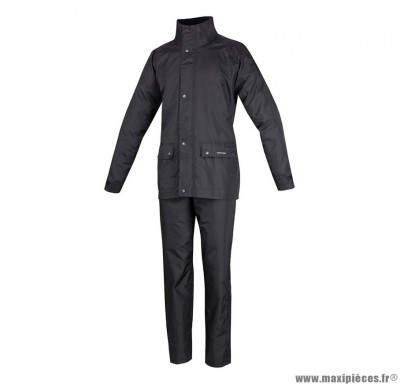 Vêtement de pluie marque Tucano Set Diluvio Plus Noir taille XXL (2Xl) (Pack Veste+Pantalon)