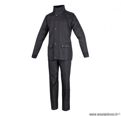 Vêtement de pluie taille XXXXL (4Xl) marque Tucano Set Diluvio Plus Noir (Pack Veste+Pantalon)