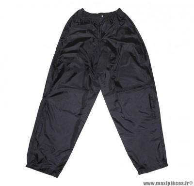 Pantalon de pluie marque ADX Eco Noir taille XXL (Pressions et Elastique D'Ajustement + Sac de Transport)