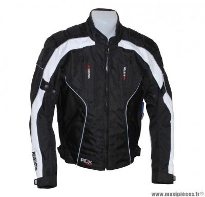 Blouson marque ADX Ringroad taille XS Noir/Blanc (avec protections/sans plaque dorsale)