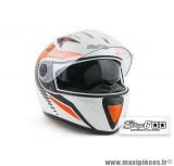 Casque Intégral Stage 6 Racing MKII taille M couleur blanc / orange