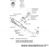 Ligne complète d'échappement Leovince Granturismo pour maxiscooter Suzuki Burgman 250/400