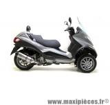 Pot d'échappement Leovince SBK LV One inox pour moto Piaggio MP3 400/500