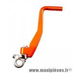 Kick alu anodisé orange pour 50 a boite derbi senda (euro2/3/4)