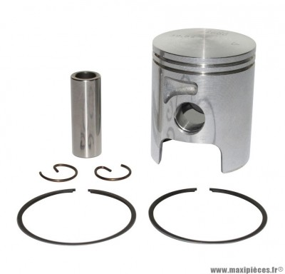 PISTON 50 A BOITE ARTEK K2 ALU 2 SEGMENTS POUR MINARELLI 50 AM6/MBK 50 X-POWER, X-LIMIT/YAMAHA 50 TZR, DTR/PEUGEOT 50 XPS/RIEJU 50 RS1/BETA 50 RR/APRILIA 50 RS 1995>2005