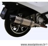 Pot d'échappement Leovince SBK LV One inox pour maxiscooter Peugeot Metropolis 400