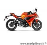 Ligne d'échappement Leovince SBK Underbody pour moto avec catalyseur Kawasaki Z650