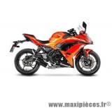 Ligne d'échappement Leovince SBK LV One carbone pour moto Kawasaki Z650/Ninja