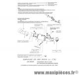 Collecteur décatalyseur SBK Leovince pour moto Kawasaki ZX10R