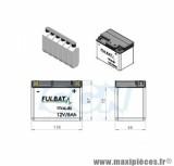 BATTERIE MOTO / SCOOT / QUAD YTX4L-BS FULBAT 12V / 5AH LG114 L71 H86 - SANS ENTRETIEN - AVEC ACIDE- SURPUISSANTE
