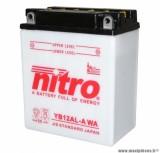 BATTERIE MOTO / SCOOT / QUAD 12V 12Ah YB12AL-A NITRO AVEC ENTRETIEN (Lg134xL80xH160)
