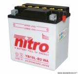 BATTERIE MOTO / SCOOT / QUAD 12V 11 Ah YB10L-B2 NITRO AVEC ENTRETIEN (Lg135xL90xH145)