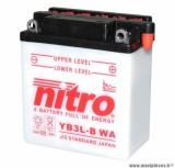 BATTERIE MOTO / SCOOT / QUAD 12V 3 Ah YB3L-B NITRO AVEC ENTRETIEN (Lg98xL56xH111)