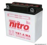 BATTERIE MOTO / SCOOT / QUAD 12V 8 Ah YB7-A NITRO AVEC ENTRETIEN (Lg137xL75xH134)
