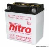 BATTERIE MOTO / SCOOT / QUAD 12V 11 Ah YB10L-A2 NITRO AVEC ENTRETIEN (Lg135x90x145)