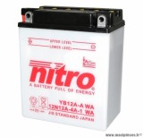 BATTERIE MOTO / SCOOT / QUAD 12V 12Ah YB12A-A NITRO AVEC ENTRETIEN (Lg134xL80xH160)