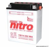 BATTERIE MOTO / SCOOT / QUAD 12V 14Ah YB14-B2 NITRO AVEC ENTRETIEN (Lg134xL89xH164)