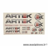 AUTOCOLLANT/STIKERS ARTEK GRIS/TRANSPARENT (1 PLANCHE DE 24 440mmx230mm)