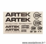 AUTOCOLLANT/STIKERS ARTEK NOIR/TRANSPARENT (1 PLANCHE DE 24 440mmx230mm)