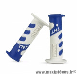 Revêtement poignée TNT cross blanc / bleu