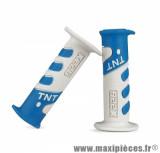 Revêtement poignée TNT cross blanc / bleu ciel