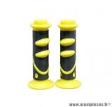 Paire de revêtements poignée speed noir / jaune