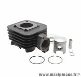 CYLINDRE PISTON DE SCOOTER POUR: PEUGEOT 50 LUDIX ONE-TREND-SNAKE-CLASSIC, VIVACITIY 2T 2008>, KISBEE 2T 2013>  - FONTE OLYMPIA-
