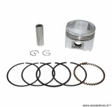 PISTON SCOOTER POUR: PEUGEOT 50 KISBEE 4T/KYMCO 50 AGILITY 4T (DIAMETRE 39mm - AXE DE PISTON 10mm)  -P2R-