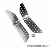 Marche pied (2 pieces) Tun'r alu argent pour maxi scooter t max